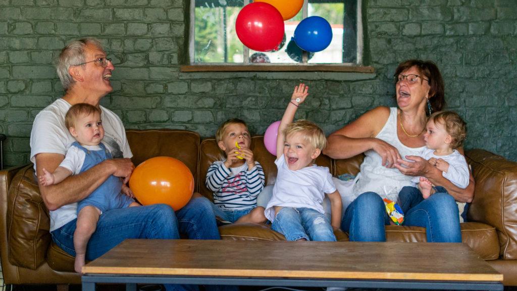 photographie de famille - ballons