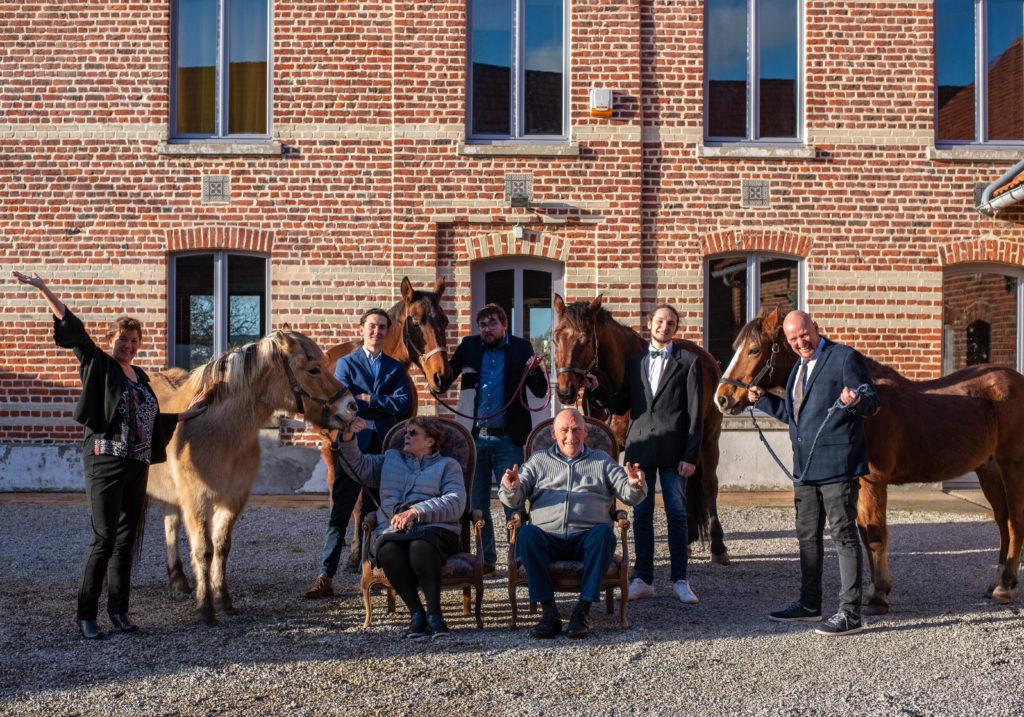 portrait famille - animaux - chevaux